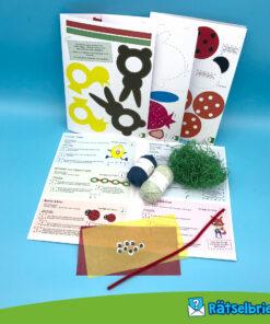 Bastelgras, Wackelaugen, Transparentpapier - 19 Einzelteile enthalten!