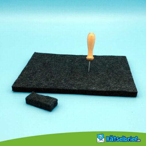 Produktfoto Prickelset - Set mit Nadel, Filz und Nadelschutz